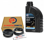 Fork Seals Dust Seals And 1l Oil For Derbi 125 Gpr 125 R / Nude 2004