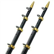 Taco 18and039 Telescopic Outrigger Poles Hd 1- 1/2 - Black/gold