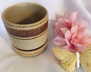 "Vintage Pottery Craft USA #610, 615 Stoneware 4"" x 4"" Planter With Base EUC"