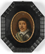 Portrait Of A Warlord Dutch High Quality Oil On Copper Miniature 17th C.