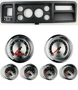 73-79 Ford Truck Black Dash Carrier W/ Auto Meter 3-3/8 American Muscle Gauges
