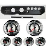 64 Chevelle Black Dash Carrier W/ Auto Meter 3-3/8 American Muscle Gauges