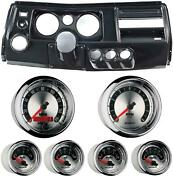 69 Chevelle Carbon Dash Carrier W/ Auto Meter 5 American Muscle Gauges W/ Astro