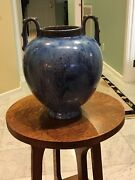 LARGE AND RARE TWO-HANDLED FULPER VASE WITH GREAT GLAZE COMBINATIONS - MINT