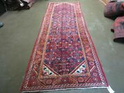 3' 6 X 10' 4 Antique Hand Made India Floral Oriental Wool Runner Rug  128