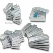 Silver Foil Cotton Filled Gift Boxes Jewelry Cardboard Box Lots Of 122550100