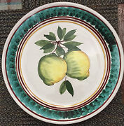 Italian Hand Painted Round Serving Platter Large 15""