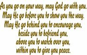 May God Go With You Window Wall Decal Foyer Entrance Dining Bedroom Family Room