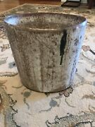 McCarty Pottery Vase Or Trash Can Nutmeg