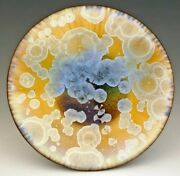 "BILL CAMPBELL Art Pottery 6"" Platter Crystalline Glaze Porcelain ACTUAL PIECE !"