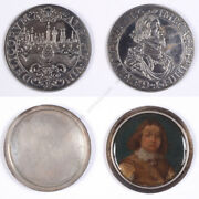 Gerrit Lundens-attrib. Silver Thaler With Portrait Of An Officer Ca. 1650
