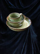 Studio Art Pottery signed Tremblay beautiful hand thrown ceramic cup and bowls