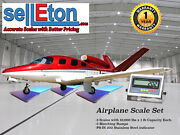 New Selleton Airplane Scale Kit With Matching Ramps 15000 Capacity / Portable