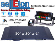 Portable Floor Scale With Printer To Weigh Drum / Vet/ Livestock / 2000 Capacity