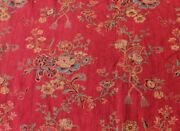 French Antique Floral Turkey Red Heavy Home Cotton Fabric C1850-603yd21l