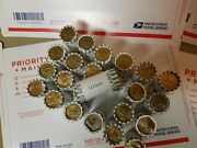 24 Unsearched Bank Rolls 600 Presidential Sacagawea And S.b.a. Dollar Coins