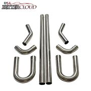 2.5 Stainless Steel T-304 Diy Custom Mandrel Exhaust Pipe Straight And Bend Kit