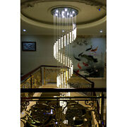Top Luxury Led Bubble Crystal Pendant Lamp Spiral Villa Living Room Stair Light