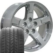 20x9 Polished 2364 Rims And Goodyear Tires Set Fit Dodge Ram 1500 Durango