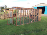Cat Run With Raised Sleeping Box Walk In Pet Enclosure House Cattery