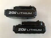 .new Porter Cable Pcc681l 2 Pack 20v 20 Volt Max Lithium-ion Battery