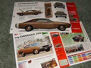 1969 Dodge Charger 500 Spec Info Poster Brochure Info Ad 69