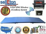 Ntep Floor Scale 48 X 48 4and039 X 4and039 Wireless Cordless 2 Ramps 5000 Lbs X 1 Lb