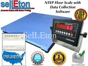 New Ntep Legal Pallet 40 X 40 Floor Scale 10000 X 2 Lb With Data Software
