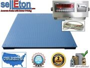 Industrial Heavy Duty Floor Scale 7andrsquo X 7andrsquo / 84andrdquo 20000 Lbs X 5 Lb And Printer