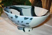 Signed Art Pottery Functional Serving Bowl by Victoria Crowell Porcelain Studio