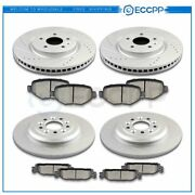 Ceramic Brake Pads And Rotors Front Rear For Lincoln Mks Base Ecoboost