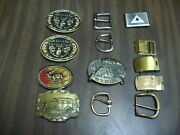 Belt Buckles Lot Of 13 Vintage Misc Lot See Photos