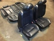 03 04 05 06 07 08 Nissan Maxima Front And Rear Seat Black Leather 6th Gen Oem