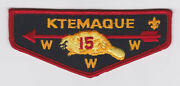 Usa Boy Scouts Of America - Bsa Oa Ktemaque Lodge 15 Scout Flap Patch