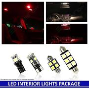 2005-2013 Chevy Corvette C6 Red Led Interior Lights Accessories Replacement Kit