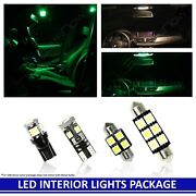 2005-2013 Chevy Corvette C6 Green Led Interior Lights Accessories Replacement