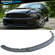 Fits 13-14 Ford Mustang Gt R Style 3pc Front Bumper Lip Spoiler Injection Pp