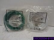 Qty = 10 Monoprice 25' 550mhz Cat6 Patch Cord. 5 White 9826/5 Green 9854
