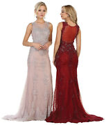 Sale Formal Special Occasion Dresses Long Pageant Sleeveless Prom Evening Gown