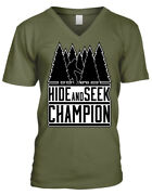 Hide And Seek Champion Bigfoot Yeti Forest Trees Find Canand039t Menand039s V-neck T-shirt