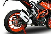 Ktm Duke 390 2017-2018 Gpr Exhaust Slip-on Silencer Albus White Road Legal