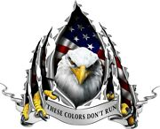 Am Flag Eagle Rip These Colors Donand039t Run Decal Camper Rv Motorhome Mural Graphic