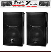 2x Yorkville Ef12p Active 12 Powered Pa Speaker 2400w Amplified Elite Series