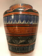 Outstanding Traditional Vintage Mexican Clay Pot or Vase