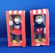 Mickey Mouse And Minnie Mouse Schuco In Box 1945