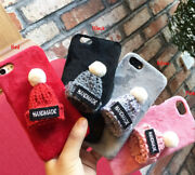 3d Soft Plush Handmade Wool Hat Back Phone Case Cover New Design Fits Iphone Q15
