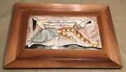 Aida Whedon Art Pottery Dancer Tiles, Wood Frame, Mid Century Modern