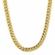 Real 10k Gold Cuban Link Mens Chain Necklace 20 Inch 10mm Box Lobster Lock Short