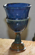Glazed Clay Earth Earthen Ware Pottery Goblet Chalice Spider Image Inside Exc N