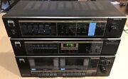 Vintage Sanyo Stereo Amplifier, Am/fm Tuner, And Cassette Deck Works Well